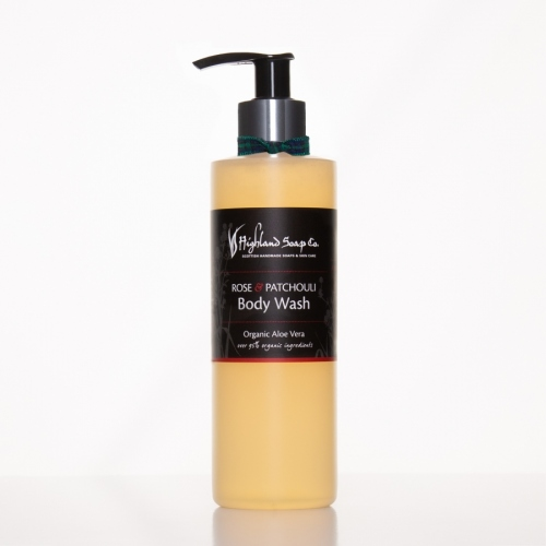 The Highland Soap Company Rose & Patchouli Body Wash 250ml