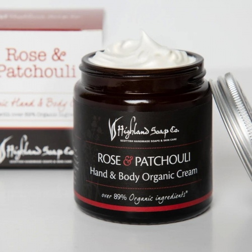 The Highland Soap Company Rose & Patchouli Hand & Body Cream 120ml