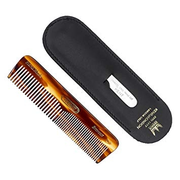 Kent: Comb (Handmade Pocket Comb, fine teeth) and file in a case
