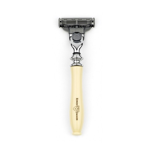 Edwin Jagger: Chatsworth Imitation Ivory Mach3/Mach3 Turbo Razor